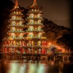 pagodes-tigre dragon nuit kaohsiung