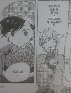 Haruka veut savoir si Itsuki aime les vêtements qu'elle lui a mis