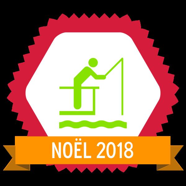 """Image du Badge """"Fishing Pier (205)"""" fourni par The Noun Project sous The symbol is published under a Public Domain Mark"""