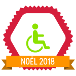 "Image du Badge ""Wheelchair Accessible (4293)"" fourni par The Noun Project sous Creative Commons CC0 - No Rights Reserved"