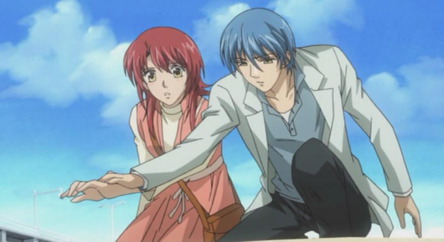 Len empêche Kahoko de se blesser les doigts de violoniste (La Corda D'Oro)