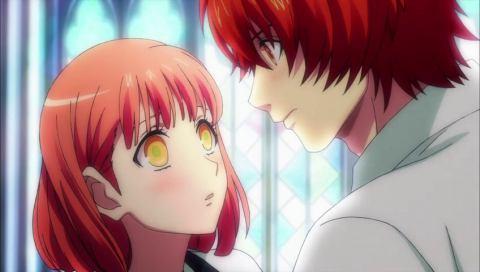 Otoya qui rougit face à Haruka (Uta no Prince-sama)