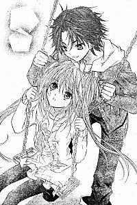 Dessin tiré du manga et montrant Utau et Kukai