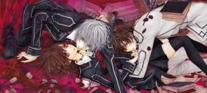 De gauche à droite : Zero, Yuki et Kaname