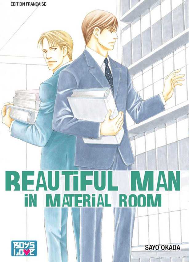 manga Beautiful man in material room