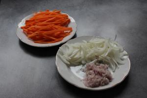 preparation carotte oignon ail echalote