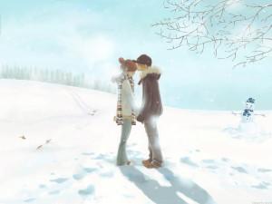 Shojo c'était nous - couple sous la neige