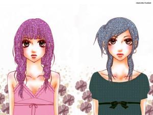Kanori et Kazumi du manga comme elles