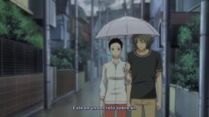 Les felurs du passé : Hazuki et Rokka partagent un parapluie