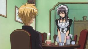 Maid sama, Misaki travaille au maid café
