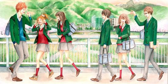 La joyeuse bande d'amis du manga Orange