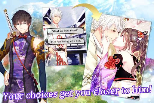 Image illustrant les différents choix possibles dans un otome game