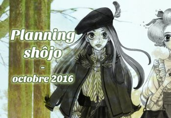 Planning shôjo - Octobre 2016