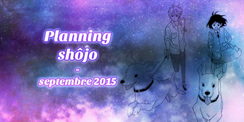Planning shôjo septembre 2015