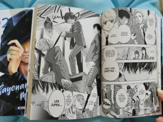 Sayonara miniskirt : planche du tome 1 Nina attrape un camarade par la cravate