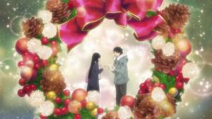 Sawako et Kazehaya s'offrent leurx cadeaux de Noël