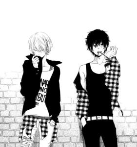 Yamaken et Haru du manga Tonari no Kaibutsu-kun